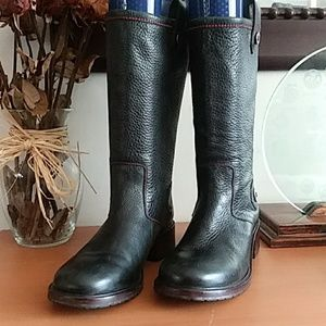 Cole Haan Mid Calf Black Country Boots 8